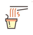 noodle in cup icon design for food graphic vector image