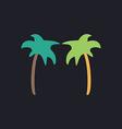 palms computer symbol vector image vector image