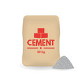 paper sacks or bags of cement vector image vector image