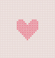 Pink heart on pink canvas vector image