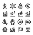 population icon vector image vector image