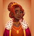 portrait a beautiful african queen vector image