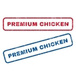 Premium Chicken Rubber Stamps vector image vector image