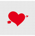 red heart pierced with arrow on clip art vector image vector image
