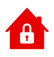 red house icon closed account symbol vector image