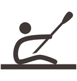 Rowing and Canoeing icon vector image vector image