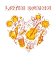 Salsa music and dance with musical vector image vector image