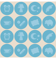 Seamless background with sleeping icons vector image