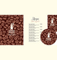 set design elements for coffee house vector image vector image