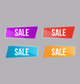 set glossy banner salecolor buttons vector image