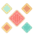 set of patchwork rhombuses vector image vector image