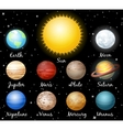 set planets against space vector image vector image