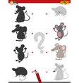 shadow game with mice vector image vector image