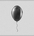 transparent black helium balloon vector image