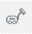 vacuum cleanin concept linear icon isolated on vector image