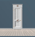 white entrance door vector image vector image