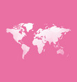 white world map on pink vector image