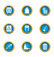 withdrawal icons set flat style vector image vector image