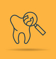isolated icon of treatment of affected tooth vector image