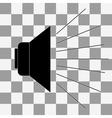 black speak icon vector image