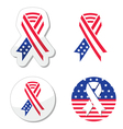 USA ribbon flag - symbol of patriotism vector image