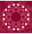 Floral Circle Ornament vector image