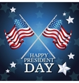 happy president day crossed flag symbol star vector image