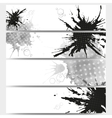 Abstract hand drawn spotted background with empty vector image vector image