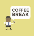african businessman with coffee break vector image