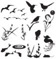 Animal and floral silhouettes vector | Price: 1 Credit (USD $1)