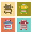 assembly flat icons school bus vector image