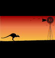 australian sunset vector image vector image