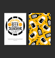 beer brewery craft card template festival vector image