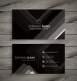 black dark stripes business card vector image vector image