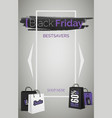 black friday bestsavers 3d web banner vector image vector image