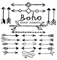 boho doodle design elements vector image vector image