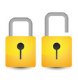 bright padlock icon vector image vector image