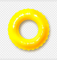 bright yellow swimming circle realistic summer vector image