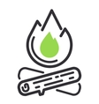 Camping icon isolated vector image vector image
