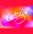 christmas lettering on red abstract background vector image