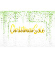 christmas sale gold glitter confetti texture frame vector image vector image