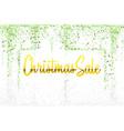 christmas sale gold glitter confetti texture frame vector image