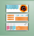 corporate infographic template with color vector image