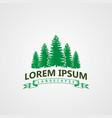 creative landscape pines tree logo concept design vector image