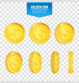 creative of 3d gold coins vector image