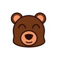 cute face bear animal cartoon icon vector image vector image
