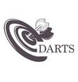 darts championship tournament sketch logo vector image vector image