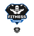energy fitness sports logo vector image vector image