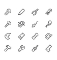 engineer tools black icon set on white back vector image vector image