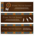 Ethnic Banners with Dream Catcher vector image vector image